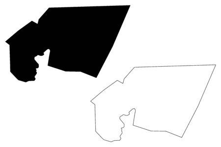 Tagant Region (Regions of Mauritania, Islamic Republic of Mauritania) map vector illustration, scribble sketch Tagant map 일러스트