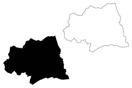 Canelones Department (Departments of Uruguay, Oriental Republic of Uruguay) map vector illustration, scribble sketch Canelones map