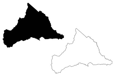 Cerro Largo Department (Departments of Uruguay, Oriental Republic of Uruguay) map vector illustration, scribble sketch Cerro Largo map