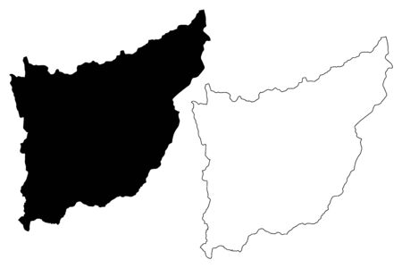 Florida Department (Departments of Uruguay, Oriental Republic of Uruguay) map vector illustration, scribble sketch Florida map