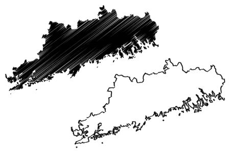 Uusimaa Region (Republic of Finland) map vector illustration, scribble sketch Uusimaa map Ilustrace