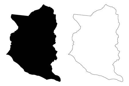 San Jose Department (Departments of Uruguay, Oriental Republic of Uruguay) map vector illustration, scribble sketch San Jose map