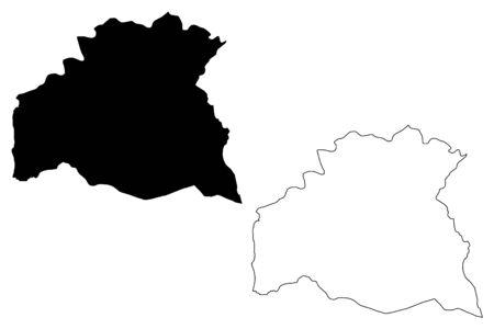Soriano Department (Departments of Uruguay, Oriental Republic of Uruguay) map vector illustration, scribble sketch Soriano map Иллюстрация