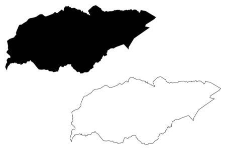 Treinta y Tres Department (Departments of Uruguay, Oriental Republic of Uruguay) map vector illustration, scribble sketch Treinta y Tres map