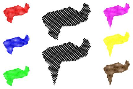 Boaco Department (Republic of Nicaragua, Departments of Nicaragua) map vector illustration, scribble sketch Boaco (NI-BO) map