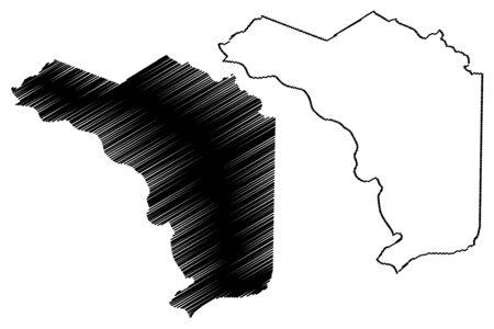 Alajuela Province (Republic of Costa Rica, Administrative divisions of Costa Rica) map vector illustration, scribble sketch Alajuela map
