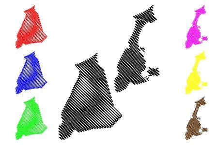 Granada Department (Republic of Nicaragua, Departments of Nicaragua) map vector illustration, scribble sketch Granada (NI-GR) map 向量圖像