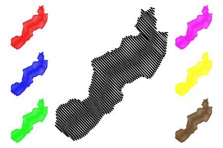 Jinotega Department (Republic of Nicaragua, Departments of Nicaragua) map vector illustration, scribble sketch Jinotega (NI-JI) map