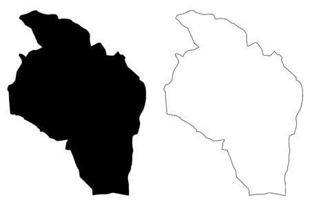 Govi-Altai Province (aimags, Provinces of Mongolia) map vector illustration, scribble sketch Govi-Altai (Gobi-Altai) Aimag map 矢量图片