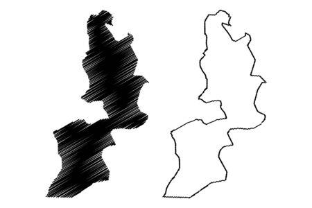 Al Buraymi Governorate (Sultanate of Oman, Governorates of Oman) map vector illustration, scribble sketch Al Buraymi map Иллюстрация