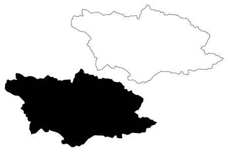 Racha-Lechkhumi and Kvemo Svaneti region (Republic of Georgia - country, Administrative divisions of Georgia) map vector illustration, scribble sketch Racha Lechkhumi and Kvemo Svaneti map
