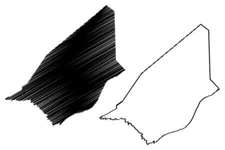 Brakna Region (Regions of Mauritania, Islamic Republic of Mauritania) map vector illustration, scribble sketch Brakna map