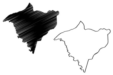 Gorgol Region (Regions of Mauritania, Islamic Republic of Mauritania) map vector illustration, scribble sketch Gorgol map