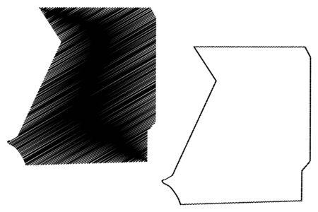 Inchiri Region (Regions of Mauritania, Islamic Republic of Mauritania) map vector illustration, scribble sketch Inchiri map