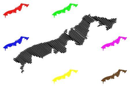 Colon Province (Republic of Panama, Provinces of Panama) map vector illustration, scribble sketch Colon map