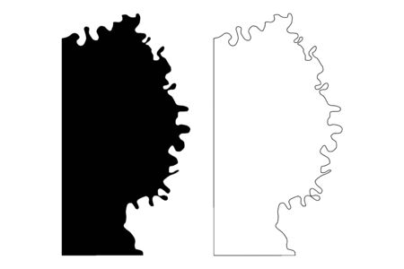 Miller County, Arkansas (U.S. county, United States of America,USA, U.S., US) map vector illustration, scribble sketch Miller map Ilustração