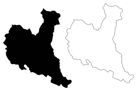 Zajecar District (Republic of Serbia, Districts in Southern and Eastern Serbia) map vector illustration, scribble sketch Zajecar map