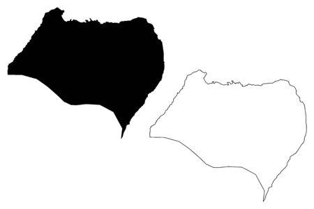 Bioko Norte (Republic of Equatorial Guinea, Provinces of Equatorial Guinea) map vector illustration, scribble sketch Bioko Norte Province (Bioko island) map 向量圖像
