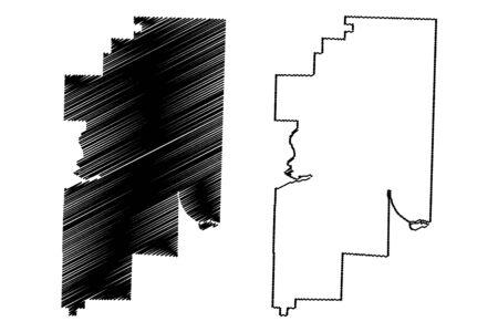 Franklin County, Arkansas (U.S. county, United States of America,USA, U.S., US) map vector illustration, scribble sketch Franklin map Ilustrace