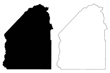 Costilla County, Colorado (U.S. county, United States of America,USA, U.S., US) map vector illustration, scribble sketch Costilla map