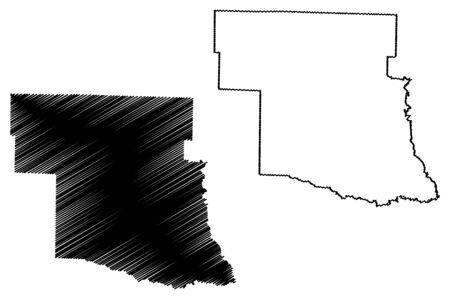Pike County, Arkansas (U.S. county, United States of America,USA, U.S., US) map vector illustration, scribble sketch Pike map Foto de archivo - 138470343
