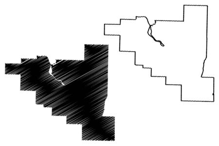 Pulaski County, Arkansas (U.S. county, United States of America,USA, U.S., US) map vector illustration, scribble sketch Pulaski map