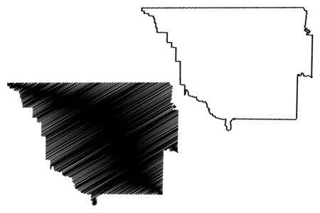 Randolph County, Arkansas (U.S. county, United States of America,USA, U.S., US) map vector illustration, scribble sketch Randolph map