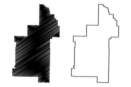 Sharp County, Arkansas (U.S. county, United States of America,USA, U.S., US) map vector illustration, scribble sketch Sharp map