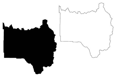 Grand County, Colorado (U.S. county, United States of America,USA, U.S., US) map vector illustration, scribble sketch Grand map
