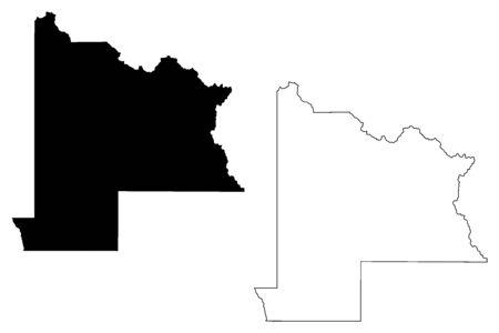 Gunnison County, Colorado (U.S. county, United States of America,USA, U.S., US) map vector illustration, scribble sketch Gunnison map