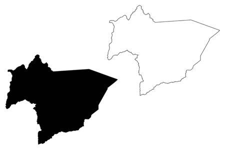 Huerfano County, Colorado (U.S. county, United States of America,USA, U.S., US) map vector illustration, scribble sketch Huerfano map