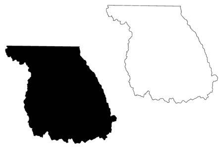 Jackson County, Colorado (U.S. county, United States of America,USA, U.S., US) map vector illustration, scribble sketch Jackson map