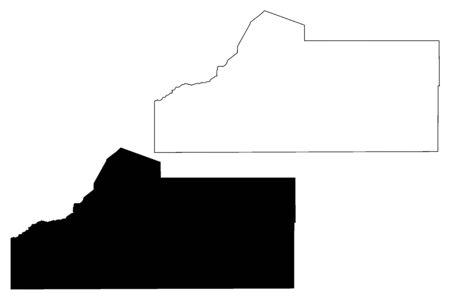 Las Animas County, Colorado (U.S. county, United States of America,USA, U.S., US) map vector illustration, scribble sketch Las Animas map