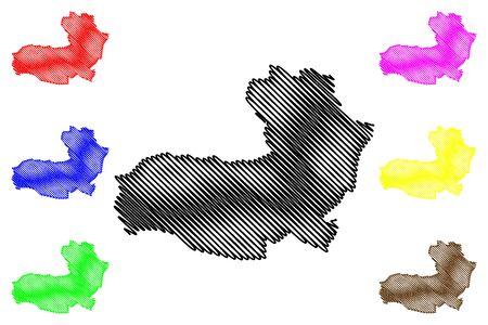 Aragatsotn Province (Republic of Armenia, Administrative divisions of Armenia) map vector illustration, scribble sketch Aragatsot map Illusztráció