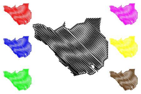 Ararat Province (Republic of Armenia, Administrative divisions of Armenia) map vector illustration, scribble sketch Ararat map