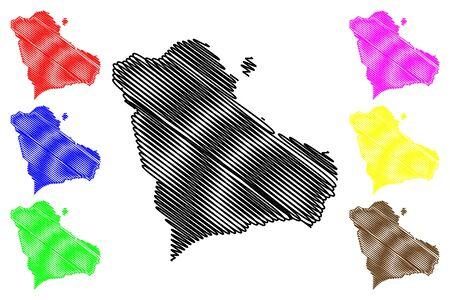 Gegharkunik Province (Republic of Armenia, Administrative divisions of Armenia) map vector illustration, scribble sketch Gegharkunik map