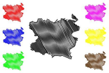 Lori Province (Republic of Armenia, Administrative divisions of Armenia) map vector illustration, scribble sketch Lori map