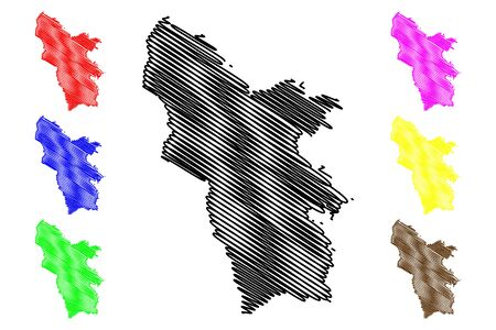 Syunik Province (Republic of Armenia, Administrative divisions of Armenia) map vector illustration, scribble sketch Syunik map