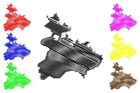 Tavush Province (Republic of Armenia, Administrative divisions of Armenia) map vector illustration, scribble sketch Tavush map Çizim
