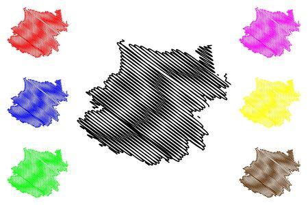 Calarasi District (Republic of Moldova, Administrative divisions of Moldova) map vector illustration, scribble sketch Calarasi map
