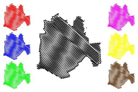 Cimislia District (Republic of Moldova, Administrative divisions of Moldova) map vector illustration, scribble sketch Cimislia map