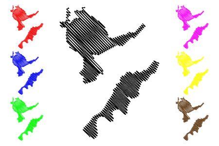 Dubasari District (Republic of Moldova, Administrative divisions of Moldova) map vector illustration, scribble sketch Dubasari map Illusztráció