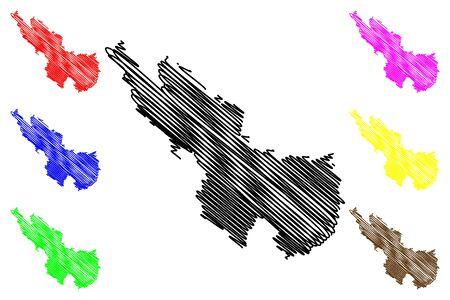 Ialoveni District (Republic of Moldova, Administrative divisions of Moldova) map vector illustration, scribble sketch Ialoveni map Illusztráció