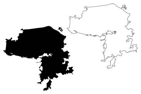 Kazan City (Russian Federation, Russia) map vector illustration, scribble sketch City of Kazan map Ilustrace