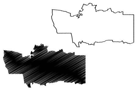 Hardap Region (Regions of Namibia, Republic of Namibia) map vector illustration, scribble sketch Hardap map