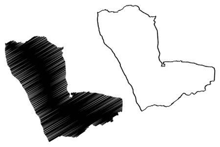 Kunene Region (Regions of Namibia, Republic of Namibia) map vector illustration, scribble sketch Kunene map