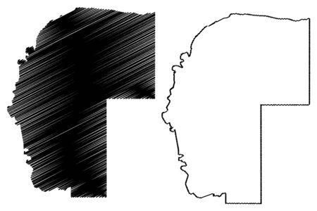 Omaheke Region (Regions of Namibia, Republic of Namibia) map vector illustration, scribble sketch Herero or Sandveld map