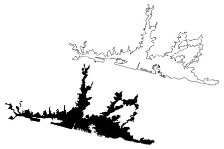 Genoa City (Italian Republic, Italy, Liguria) map vector illustration, scribble sketch City of Genova map
