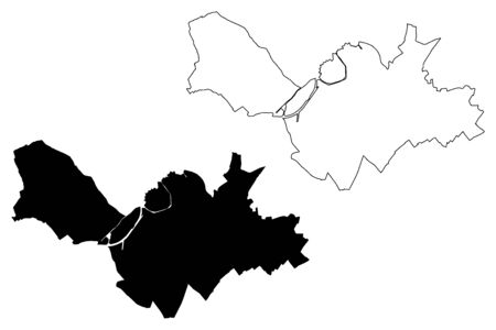 Lille City (French Republic, France) map vector illustration, scribble sketch City of Lille map