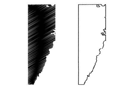 Jefferson County, Colorado (U.S. county, United States of America,USA, U.S., US) map vector illustration, scribble sketch Jefferson map Illusztráció